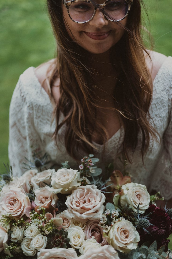 Sophisticated Gallery Kacie McColm Photography bride with her beautiful bouquet