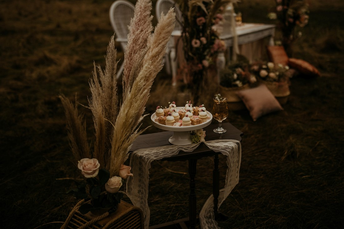 Romantic Cover for Vancouver Island Magazine Secret Waters Photography desserts stand on lace table runner