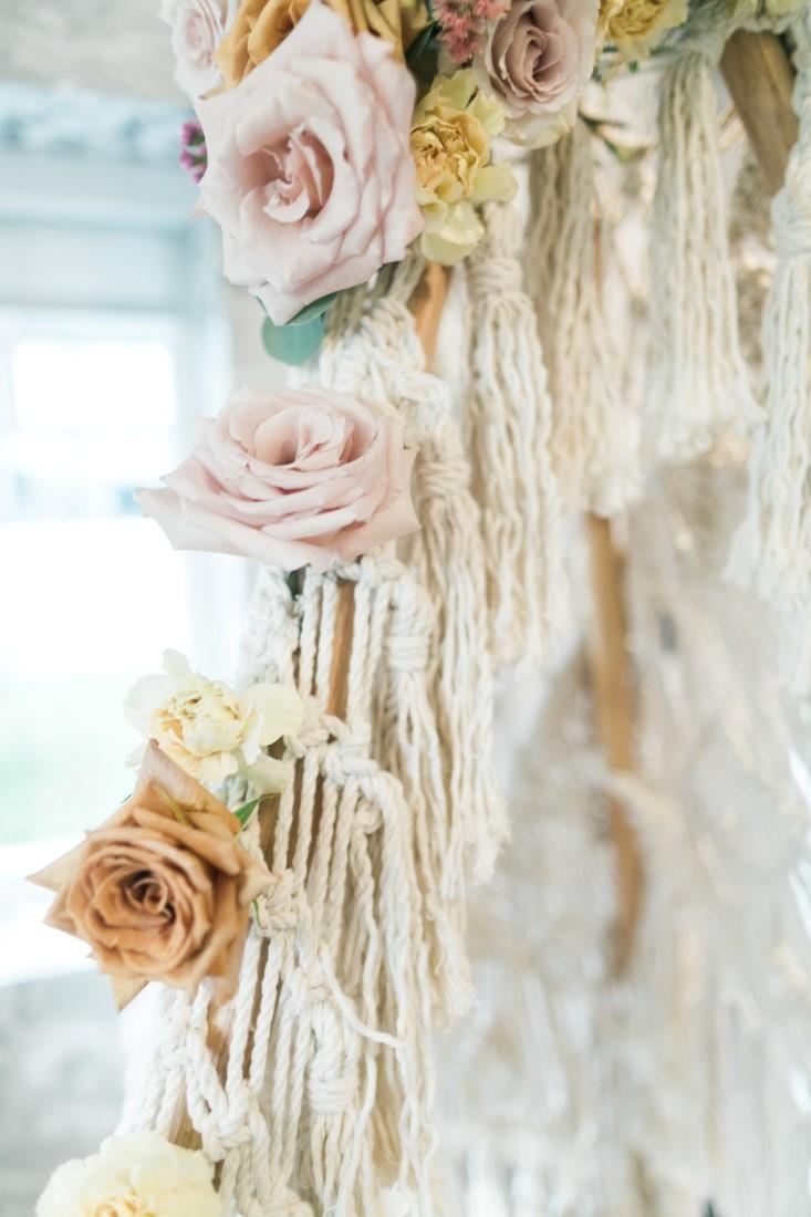 Macramé Boho Simply Sweet Photography closeup macramé florals