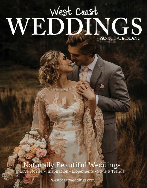 Cover Shot Vancouver Island Weddings Magazine by Secret Waters Photography