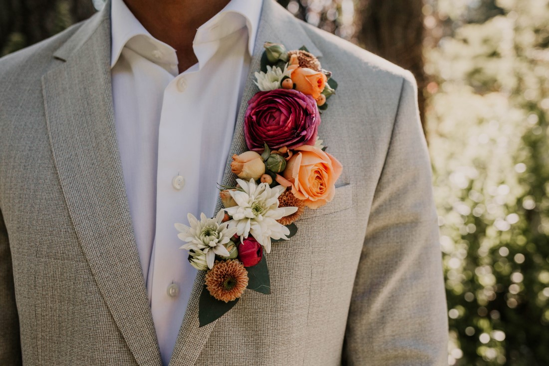 Groom's Floral Lapel by Brown's the Florist Vancouver Island