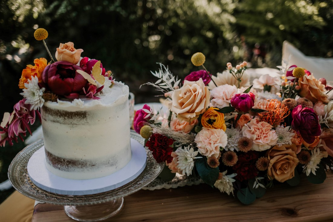 White Wedding Cake by Cobble Hill Cake Co Vancouver Island