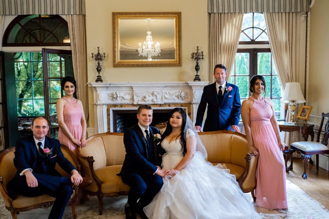 Hycroft Manor Wedding family portrait in Vancouver UBC venue