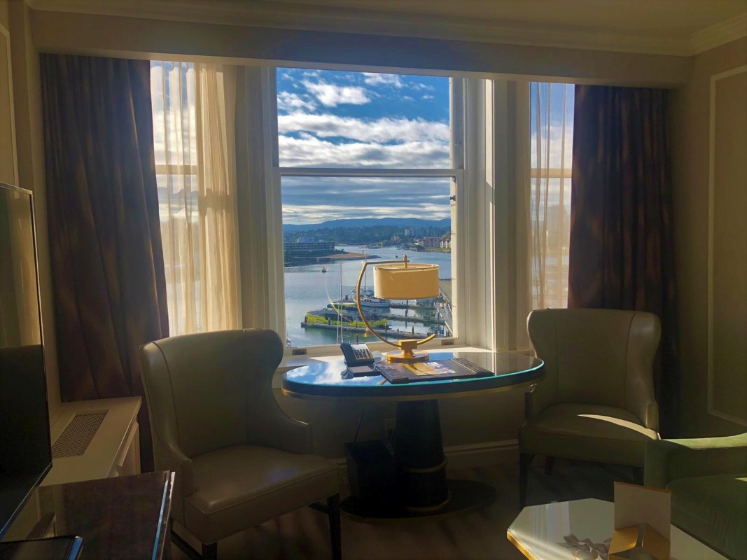 View of Victoria Inner Harbour at Fairmont Empress
